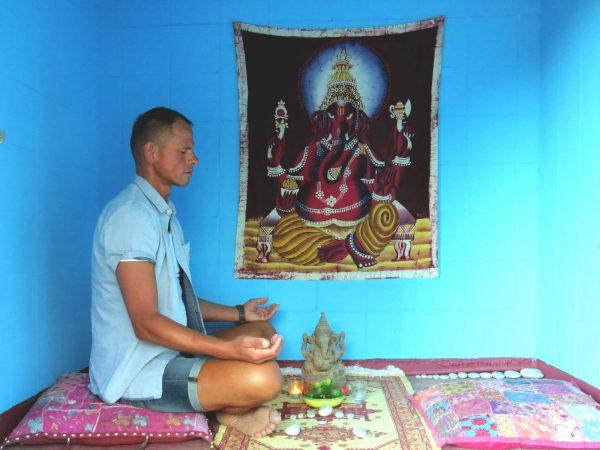 Meditation im kleinen Gebetstempel